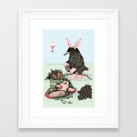 Crow Serie :: Easter Cro… Framed Art Print