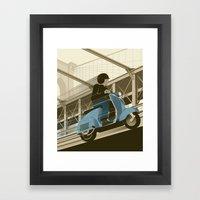 East River Crossing Framed Art Print
