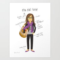 My New York City Getup! Art Print