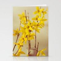 Spring Botanical - Forsythia Still Life Stationery Cards