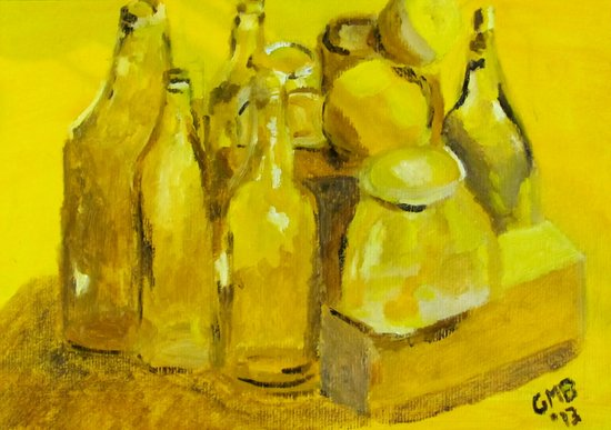 Still Life Study in Yellow Art Print