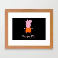 Peppa Pig Framed Art Print