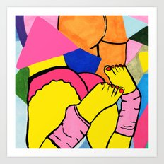 Pink Toes Art Print