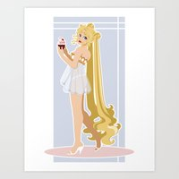 Sailor Moon Pinup - Usagi Cupcake Art Print