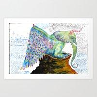 Zipperwoolf Art Print