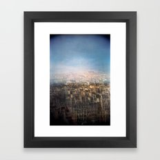 Paris Multiple Exposure  Framed Art Print
