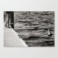 Boat & Sea Canvas Print