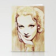 Stationery Cards featuring Marlene Dietrich  by Marta Zawadzka