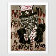 Zombie Sam Art Print