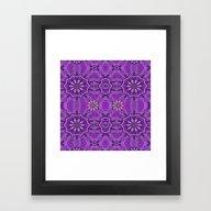 Framed Art Print featuring Bohemian Vintage Purple by Pepita Selles