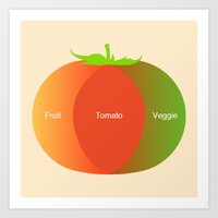 Tomato Science  Art Print