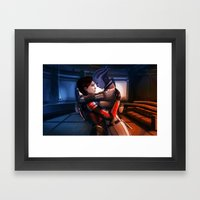 Mass Effect - Safe in your arms Framed Art Print