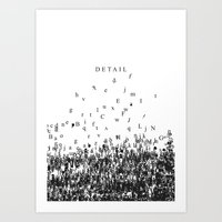 Attention to detail. Art Print