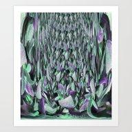 Sage Falls Art Print