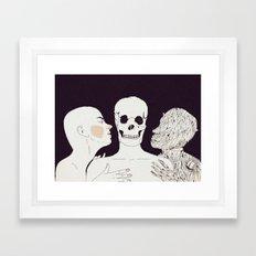""""""" Mientras te acaricio, te veo envejecer . Amo a las dos. A tí y a tu muerte""""   Framed Art Print"""