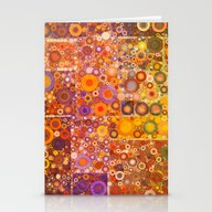Autumnal Circles Stationery Cards
