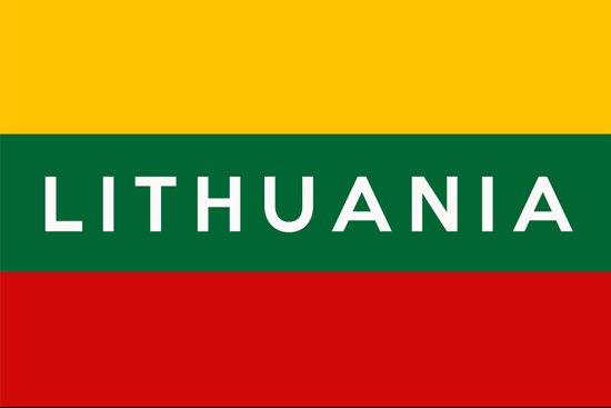 lithuania country flag name text Art Print