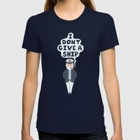 Indifferent Captain Womens Fitted Tee Navy SMALL