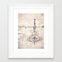 Tarot: V - The Hierophan… Framed Art Print