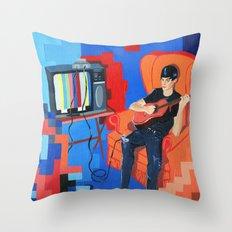 PIXEL BAND Throw Pillow