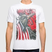 Raven Graffiti Mens Fitted Tee Ash Grey SMALL