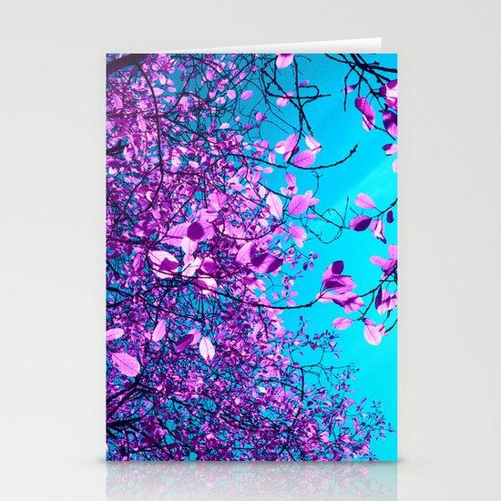 purple tree XXIII Stationery Card