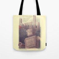 A City Snow-Bot Tote Bag