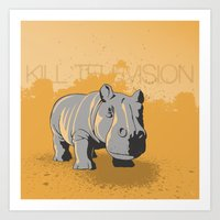 Art Print featuring Kill Television by Wolves In Space