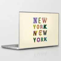 new york Laptop & iPad Skins featuring New York New York by Fimbis