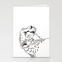 CHEETAH B&W Stationery Cards