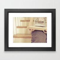 Read...in a quiet place Framed Art Print