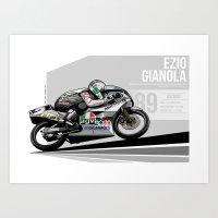 Ezio Gianola - 1989 Suzuka Art Print
