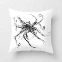 Star Octopus Throw Pillow