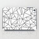 Abstract Outline Black on White iPad Case