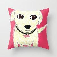 Bichon Bolognese Dog Throw Pillow