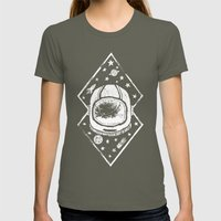 Space Traveller Womens Fitted Tee Lieutenant SMALL