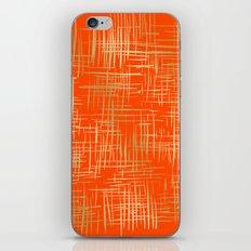 Crosshatch Fire iPhone & iPod Skin