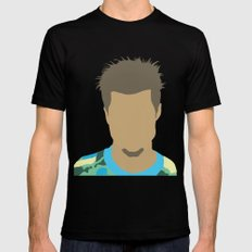 Tyler Durden Fight Club SMALL Black Mens Fitted Tee