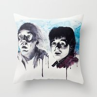 Doc & Marty Throw Pillow