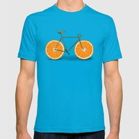 Zest (Orange Wheels) Mens Fitted Tee Teal SMALL