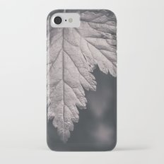 Black and White Forest Leaf iPhone 7 Slim Case