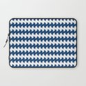 jaggered and staggered in monaco blue Laptop Sleeve