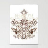 Crossing Guns Stationery Cards