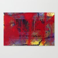 Scanned In Blood Canvas Print