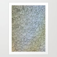 Sea Of Lines Art Print