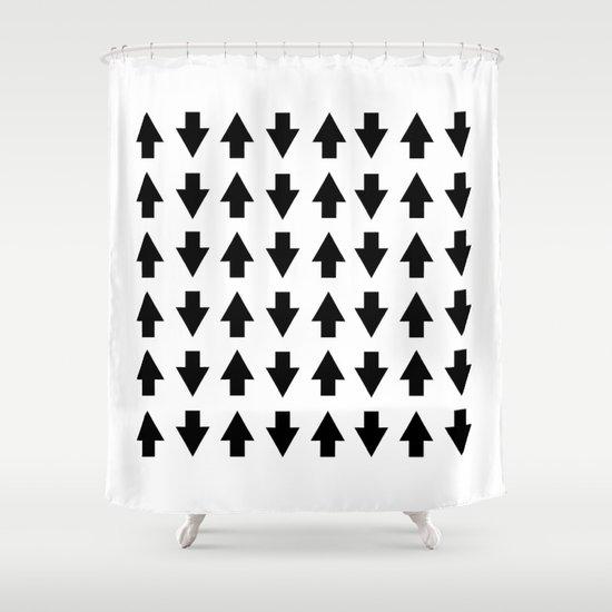Arrows Black Shower Curtain
