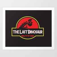 The Last Dinosaur Art Print