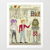 Hero-glyphics: Planet Express  Art Print