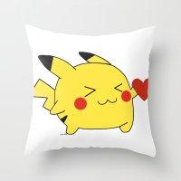 Pikachu In Love  Throw Pillow