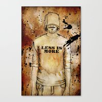 Less Is More. Canvas Print